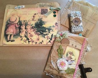 Easter Junk Journal w/Altered File Folder Gift Bag