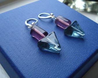 Murano glass lever back earrings
