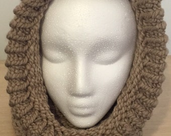 Chunky Knit Cowl - Knitted Cowl Scarf - Hooded Cowl Neck - Chunky Knitted Scarf - Hooded Scarf