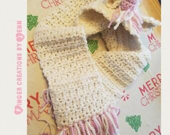 Crochet Hooded Unicorn Scarf