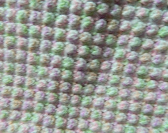Crochet Girls Baby Afghan: bitty Shell handmade infant blanket in a pretty color mix 36 x 36 inch  Perfect baby shower keepsake gift