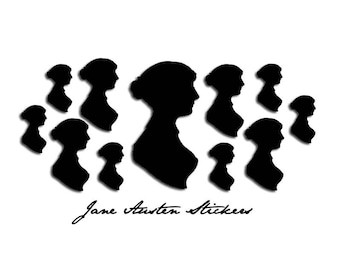 Jane Austen Silhouette Stickers: Two Sheets