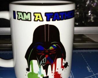 I Am A Father Darth Vader Star Wars Artistic Mug 11oz Sublimated Fathers Day Gift Idea