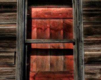 Rustic Decor, Home Decor, Midwest Art, Farmhouse Decor, Large Wall Art, The Secret Window