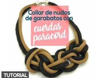 Collar de Nudos de Garabatos con Cuerdas Paracord Ebook PDF con Video Tutorial