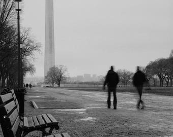 Walking to the Washington Monument Print –Industrial Wall Art, Washington, D.C. Photography, Digital Download