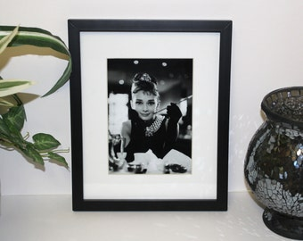 Audrey Hepburn Breakfast At Tiffany's 5x7 photo. Framed and Matted display measures a final size of 8x10.  #2