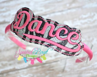 Dance Slider Headband, Girls or Tweens, Perfect for Many Occasions! Made to Order