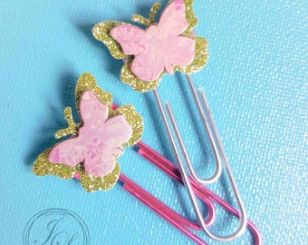 Butterfly planner paper clips