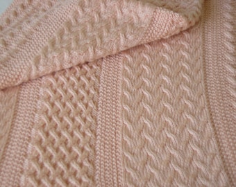 PATTERN - Country Peach in Three Cable Patterns,PDF