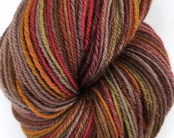 "Handspun Yarn ""Hickory and Maple"" Fingering Polwarth 525 yds."