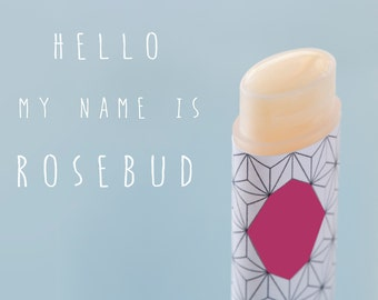 Rose Lip balm, Vegan, All Natural, Rose, Rosebud, One Oval tube