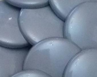 set of 4 large vintage scrapbooking 22 mm grey plastic shank buttons