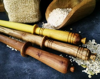 Oatmeal Spurtle, Hand Turned Wooden Spurtle, Wood Spurtle, Sunset Turnings