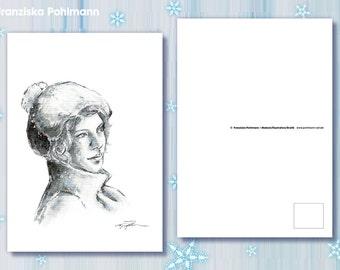 "Postcard ""Winter Cap"""