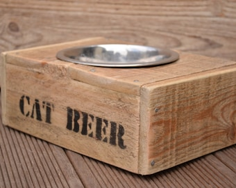 Recycled pallet wood BOWLS for cat and dog bowl