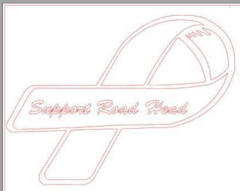 support road head ribbon vinyl decal sticker window vehicle