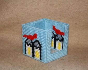 Castle sticky note cube holder