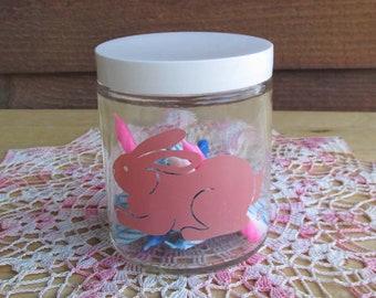 Bunny Jar   Vintage Rabbit Decor