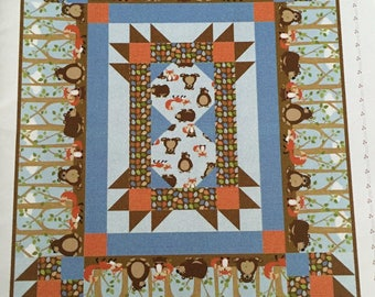 Playing in the Woods Crib Quilt pattern by Barb Sackel