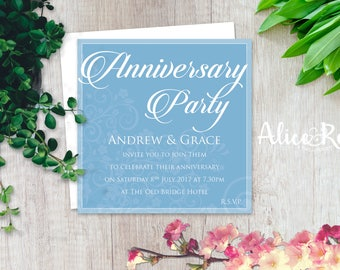 Printable Anniversary Party Invitation