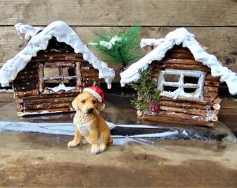 Fairy Garden Cottage,Christmas Fairy Garden,Christmas fairy house,fairy house,Snow House, Christmas decor, Christmas house