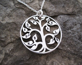 Family Tree Necklace - Sterling Silver, Family Tree Charm, Personalized Tree Charm, Gifts for Gigi, Gifts for Mimi, Mother's Day Gifts, Nana