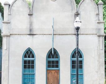 Blue Window Print
