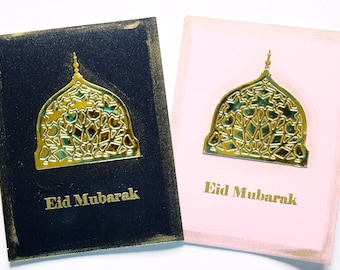 Eid Greetings Card Golden Dome