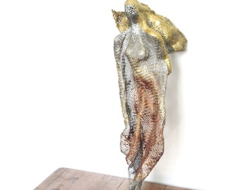 Metal art Ballerina Sculpture OOAK. Currently displayed in Old Jaffa gallery. Available for purchase.