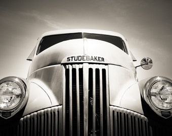 "Old Truck Photography, Studebaker, Fine Art Print, Vintage Truck, Old Car, Wall Decor, Man Cave, Poster, Garage Art, Color Options - ""Stud"""