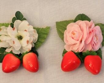 Strawberry Corsage 2-way Clip