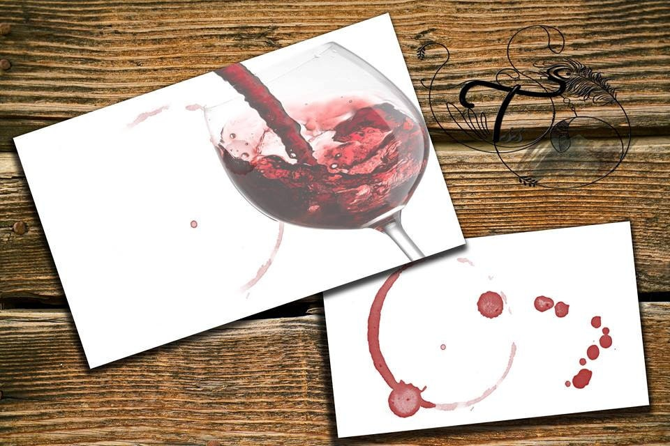 Business Card Template Designs red wine glass traces of wine