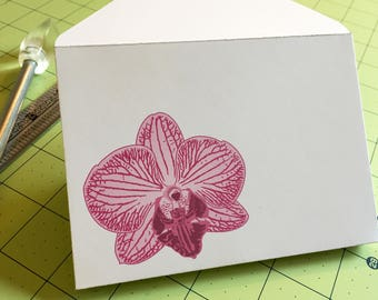 Four Printable Orchid Envelopes