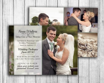Photoshop Marketing Template, wedding photography flyer, customisable psd board, digital download kit, photographer templates card