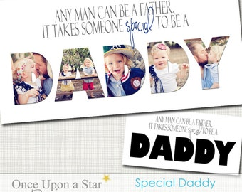 Dad Collage - 10x20 Special Daddy Storyboard - Photographer Resources - Father's Day - Dad's Birthday