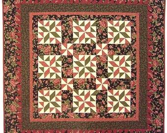 Thimbleberries CRANBERRY SPARKLE Quilt Pattern Throw, Lap Wall Lynette Jensen Patchwork RARE