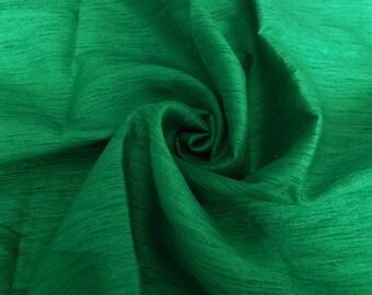 Silk Fabric, Dupioni Silk Fabric, Blend Silk Fabric, Art Silk Fabric, Green Dupioni Silk Fabric