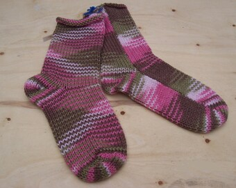 Pink Camo Camou Camouflage Knit Socks 1 pair fits size 7 - 9