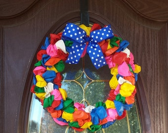 Birthday Balloon Wreath