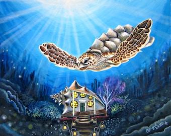 Loggerhead Turtle and Conch House