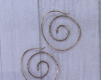 Gold filled or sterling hoop earrings