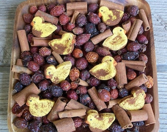 Rustic Yellow Duck Saltdough Mix, Grubby, Country, Primitive, Potpourri Add-in, Fixins Add-in, Duckling