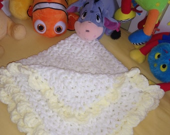 Beautiful handmade chenille babies blanket