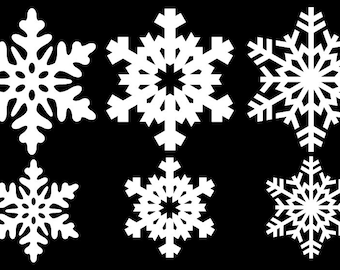 snowflake window decal bumper sticker