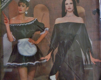 Butterick 5800 Misses' French Maid qand Witch Costume Sewing Pattern Size 6 to 18 Bust 30.5 to 38