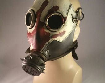 Skullbuster Gas Mask, Red Hand finish.