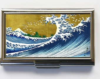 Japanese Wave Business Card Holder Card Case