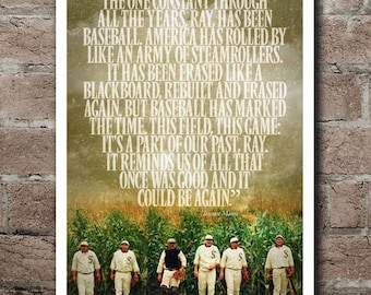 """FIELD OF DREAMS Terence Mann Quote Poster (12""""x18"""")"""