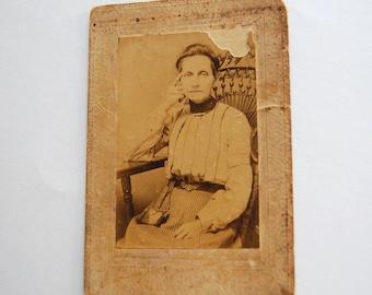 Antique Sepia Toned Victorian Woman Photograph